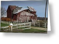 Old Forlorn Decrepid Wooden Barn Greeting Card