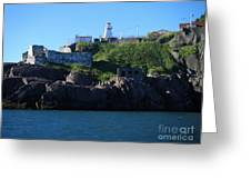 Old Fort Amherst By Barbara Griffin Greeting Card