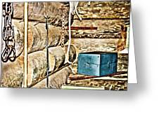 Old Fort Interior Room Greeting Card