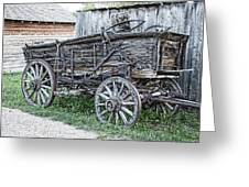 Old Freight Wagon - Montana Territory Greeting Card