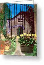 Old French Farm House Greeting Card