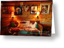 Old Frontier Cabin Greeting Card