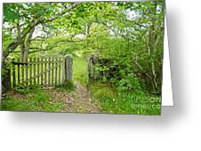 Old Garden Gate Greeting Card