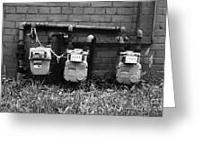 Old Gas Meters Greeting Card