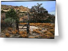 Old Gate At Oak Flats Greeting Card