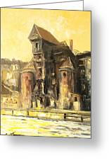 Old Gdansk - The Crane Greeting Card