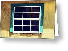 Old Glass Window Greeting Card