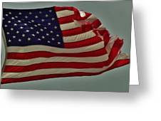 Old Glory American Flag 7 6/29 Greeting Card