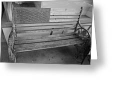 Old Glory Bench In Philadelphia Greeting Card