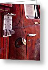 Old Glory Days Door Limited Edition Greeting Card