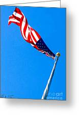 Old Glory Hdr Greeting Card
