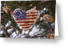 Old Glory Heart Greeting Card