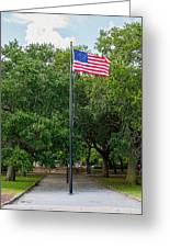 Old Glory High And Proud Greeting Card