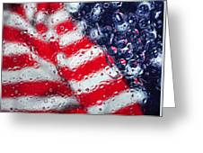Old Glory Impression Greeting Card
