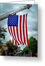 Old Glory Over Doylestown Greeting Card