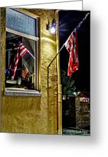 Old Glory Reflected Greeting Card