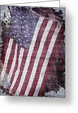 Old Glory Rustic Greeting Card