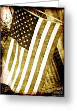 Old Glory Sepia Rustic Greeting Card