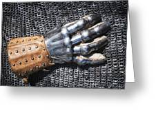Old Glove Of A Medieval Knight Greeting Card