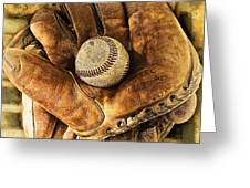 Old Gloves Greeting Card