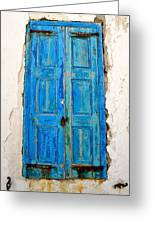 Old Greek Shutter Greeting Card