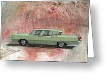 Old Green Car Greeting Card