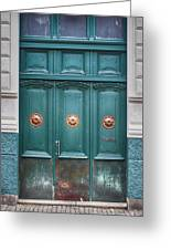 Old Green Door Greeting Card
