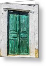 Old Green Door Greeting Card
