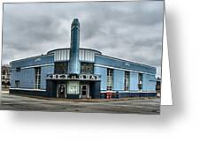 Old Greyhound Bus Terminal  Greeting Card by Julie Dant