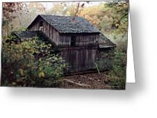 Old Grist Mill Greeting Card by Thomas Woolworth