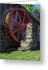 Old Grist Mill Vermont Greeting Card