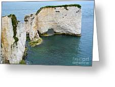 Old Harry Rocks On The Jurassic Coast In Dorset Greeting Card