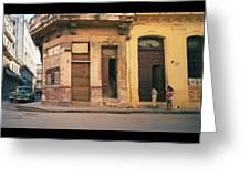 Life In Old Havana Greeting Card