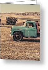 Old Hay Truck In The Field Greeting Card