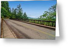 Old Highway And Forest Greeting Card