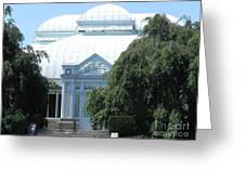 Old Historical Building At Botanical Gardens Of New York Greeting Card