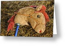 Old Hobby Horse Head Greeting Card