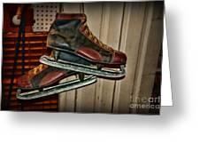 Old Hockey Skates Greeting Card by Paul Ward