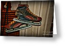 Old Hockey Skates Greeting Card