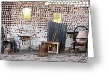 Old Home Interior Greeting Card