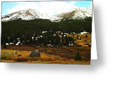 Old Homestead In The Colorado Mountains Greeting Card