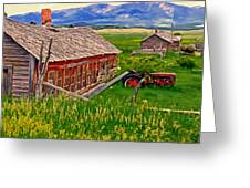 Old Homestead Near Townsend Montana Greeting Card