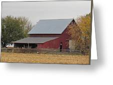 Old Horse Barn Greeting Card