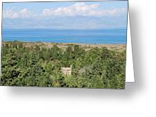 Old House By The Beach Greeting Card