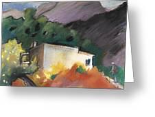 Old House In Altea La Vieja 02 Greeting Card