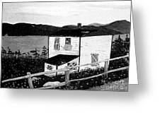 Old House In Black And White Greeting Card
