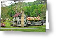 Old House In Penrose Nc Greeting Card
