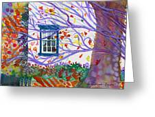 Old House In The Fall Greeting Card