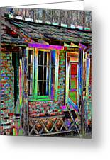 Old House Pop Art Greeting Card