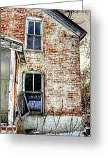 Old House Two Windows 13104 Greeting Card